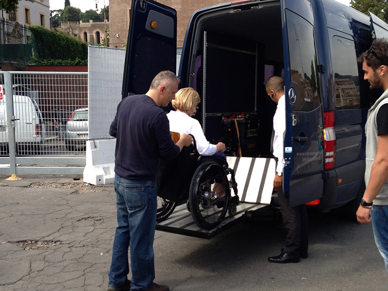 Accessible Transfer Italy wheel