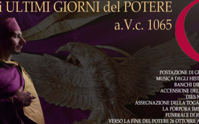 """The last days of power a.V.c. 1065"", the show in Villa di Massenzio"