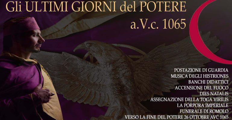 """""""The last days of power a.V.c. 1065"""", the show in Villa di Massenzio"""