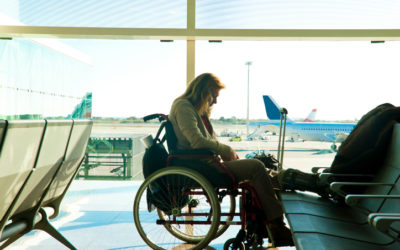 Travel by plane in a wheelchair