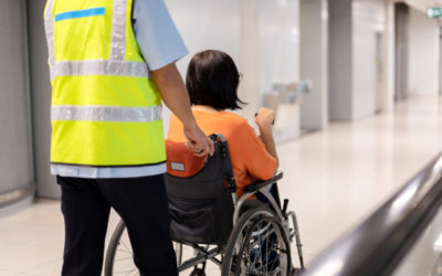 Covid free solution at the accessible intercontinental airport of Rome in Italy