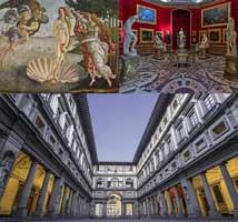 Virtual tour in Uffizi Gallery