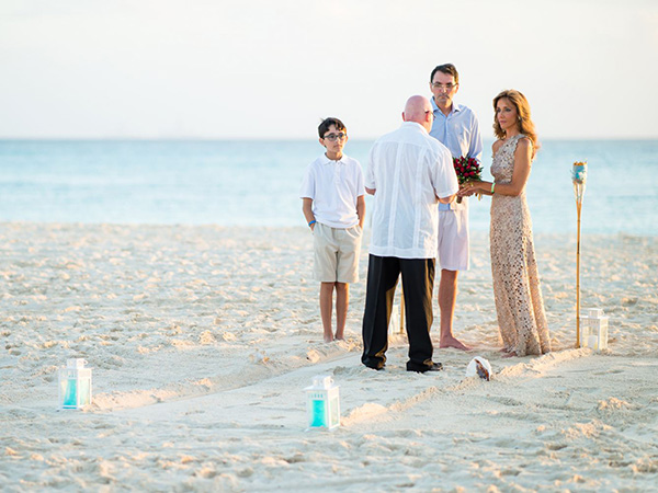 Vows Renewal sea