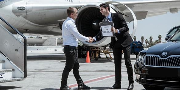 Private Transfer plane and car