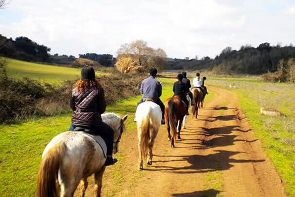 Horse riding between Ancient Ostia and sea – Rome