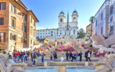 In Piazza di Spagna it is forbidden to sit on the stairs