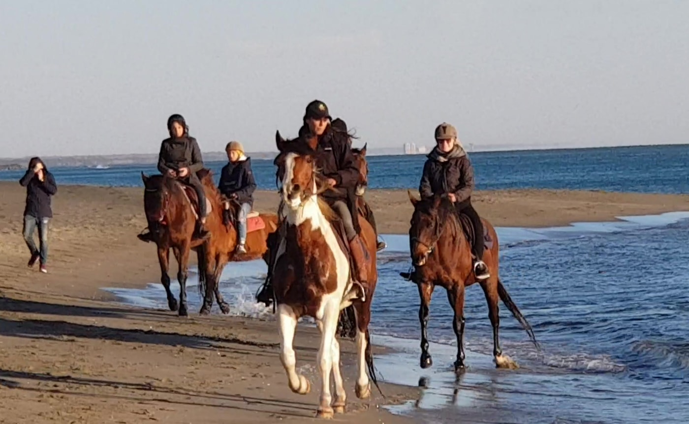 Horse riding between Ancient Ostia and sea – Rome 02