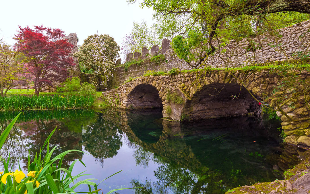 The magical Garden of Ninfa near Rome