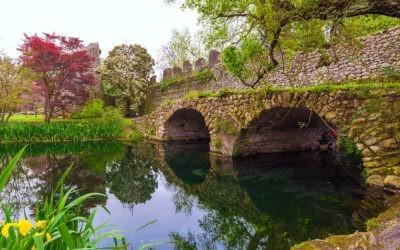The magical Garden of Ninfa near Rome