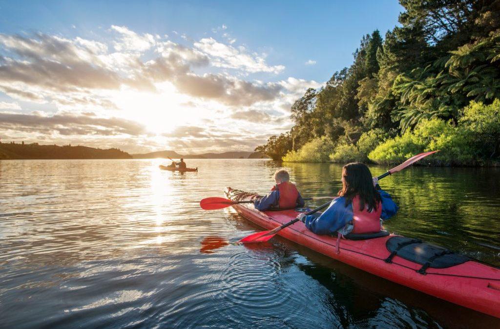 Kayak tour on Albano Lake