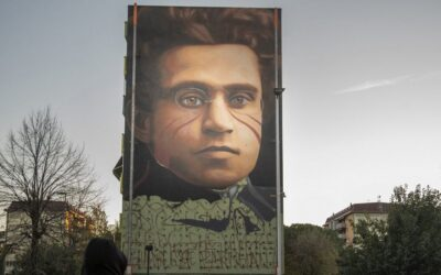 A maxi mural by Gramsci in Florence: the work of Jorit