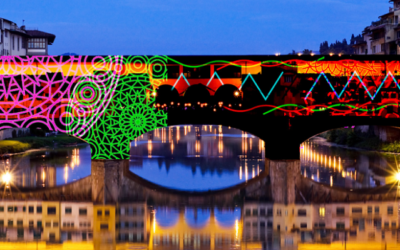 Christmas lights in Florence 2020