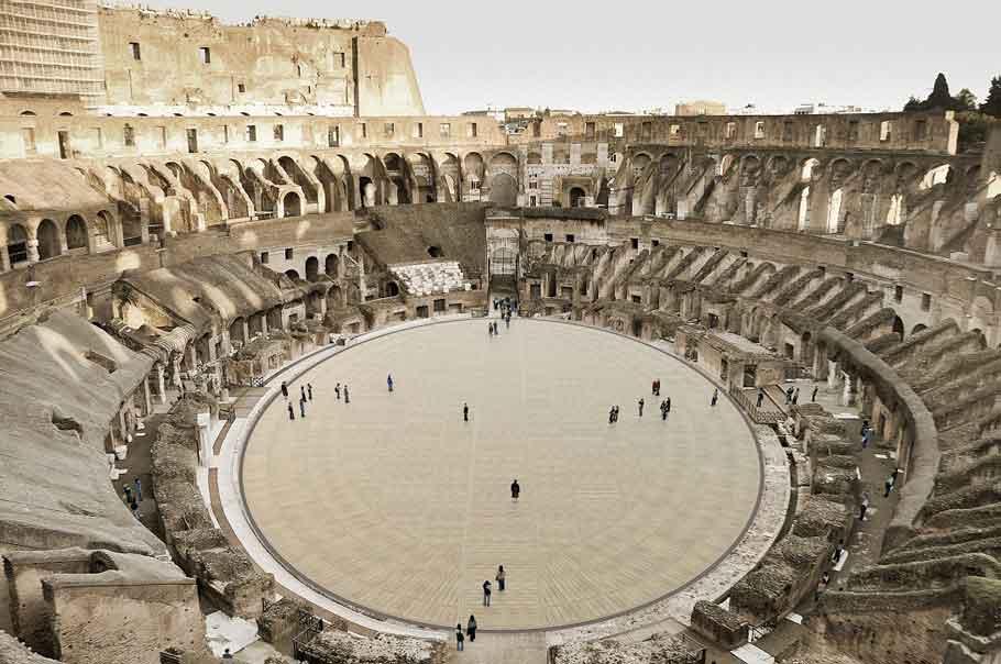 Colosseum: Enter the arena like a true gladiator.